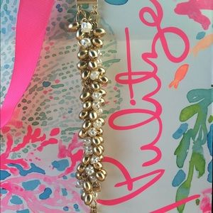 Lilly Pulitzer Gold and Pearl Tone Bracelet