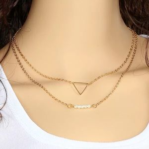 Jewelry - Triangle layer Necklace