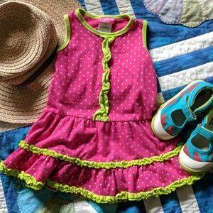 Other - Toddler ruffled tee tank dress