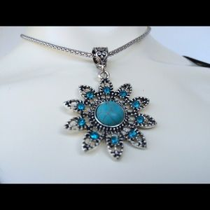 Vintage Inspired Turquoise Necklace