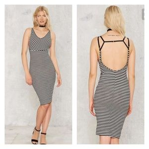 Nasty Gal Dresses & Skirts - Nasty gal get it straight midi dress - large