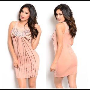 Dresses & Skirts - NIP nude sequin dress
