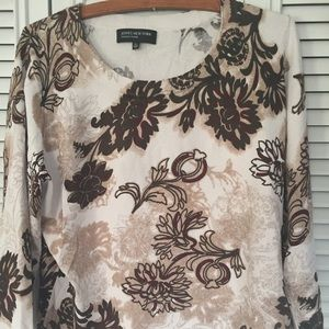 JONES NY SIGNATURE- floral 3/4 sleeve top