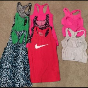 Workout tanks and sports bras. $2 each