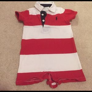 Other - Polo red and white striped one piece summer outfit