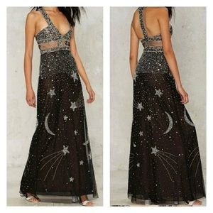 Nasty Gal Dresses & Skirts - Nasty gal dancing out in space gown - small