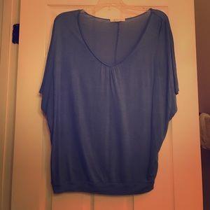Forever21 Blue Slouchy Short Sleeve Shirt - S