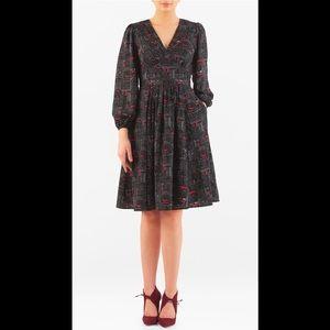 eshakti Dresses & Skirts - New Eshakti Black Fit & Flare Crepe Dress 24W