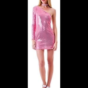  Dollskill  Pink Sequin Dress 濾