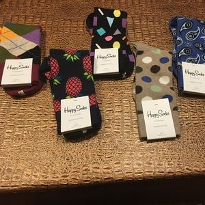 Happy Socks Other - 5 pairs Happy Socks men's size 10-13
