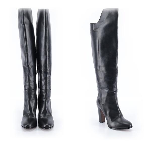 e1a1e789748 VINCE Dempsey Black Leather Over The Knee Boots. M 58e19c082ba50a90de02afe9