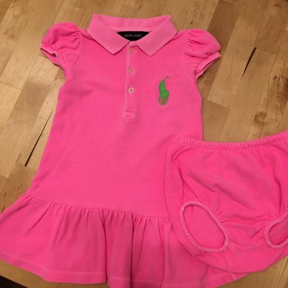 Ralph Lauren Neon Pink Polo Dress