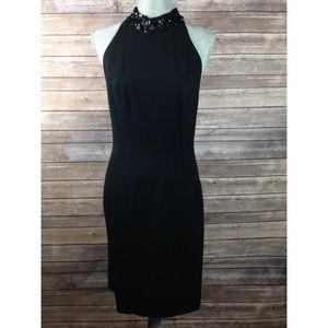 Rimini Dresses & Skirts - Rimini Black Sleeveless Dress With Sequin Neckline