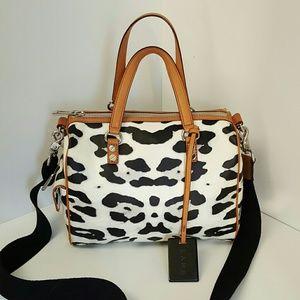 L.A.M.B. Handbags - L.A.M.B.Snow Leopard Chapelton crossbody purse bag