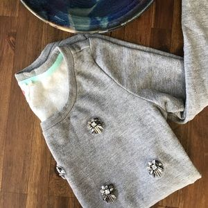  Anthro Lilka Embellished Sweatshirt, Size XS 