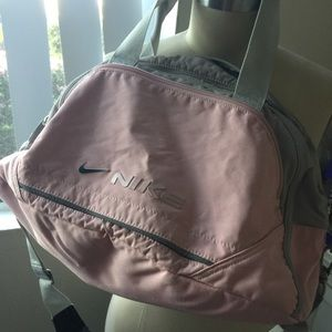 Nike Pink and Grey Gym Bag
