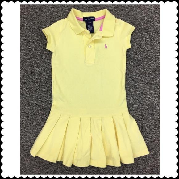 1864c7486 Girls Yellow Polo Shirt Dress RALPH LAUREN Sz 3 3T.  M 58e1a022620ff7b7410a1fec