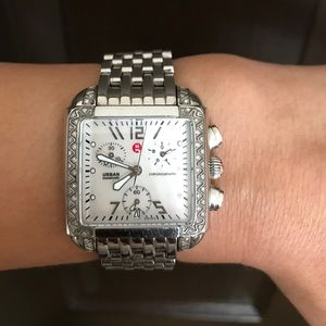 Michele Accessories - Authentic Michele Urban Diamond Watch