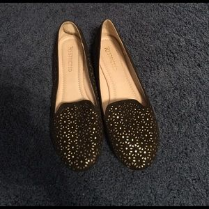 Restricted Shoes - Brown and gold women's flats