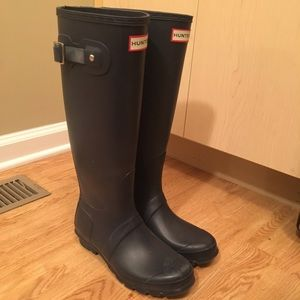 Hunter rain boots tall