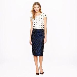 J. Crew Dresses & Skirts - J. Crew No. 2 Pencil Skirt in Dot Brocade Size 6