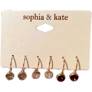 Sophia & Kate Set of 3 Teardrop Earring Set