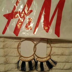 H&M Boho Statement Fringe Earrings!!!
