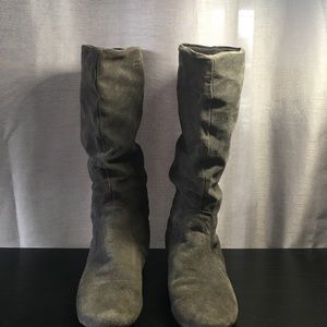 Shoes - Dark Gray Slouchy Boots