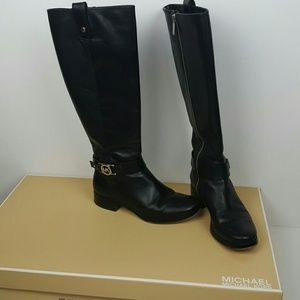 """MICHAEL Michael Kors Shoes - Michael Kors Black Boots """"Charm Riding"""" Size 5"""