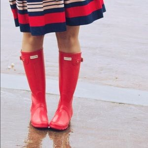 Hunter Shoes - Red Hunter Gloss Boots