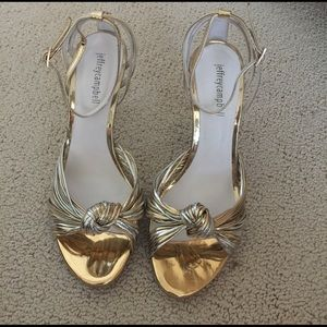 🆕 Jeffrey Campbell Heels - Gold and Silver
