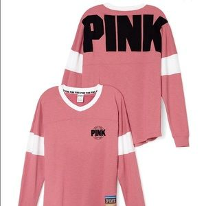 NEW VS PINK Varsity Crew Tops on Poshmark