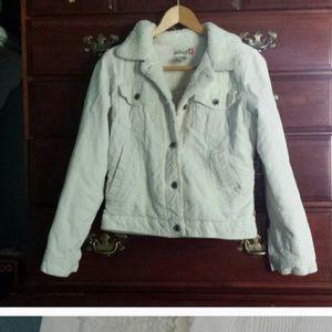 Macy's Jackets & Blazers - Winter white corduroy button up jacket