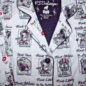 PJ Salvage Other - NWT PJ Salvage Dog Yearbook Pajamas
