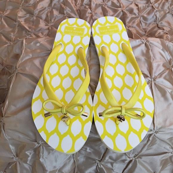 3e73bf5bae8 Kate Spade Shoes - Kate Spade New York Nova Lemons Flip Flops