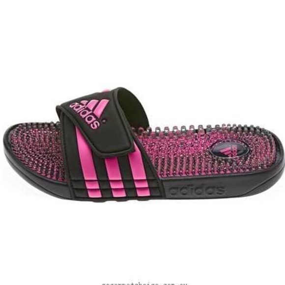 bb3f256a48c6 Adidas Shoes - adidas Slide Sandal Adissage Fade Black Pink 9