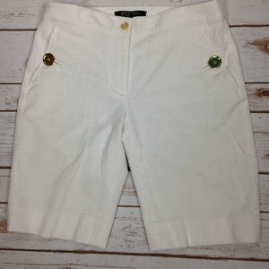 Etcetera Pants - Etcetera White Bermuda Shorts With Side Pockets