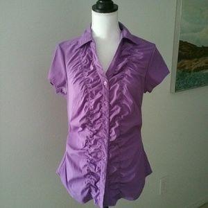 Med stretchy Purple work dress blouse