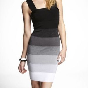 ✨EXPRESS bandage/bodycon ombré dress- like new!✨