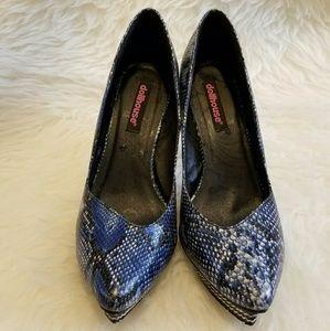 Dollhouse Shoes - 🎉HP🎉Dollhouse Blue Snakeskin Platform Heels