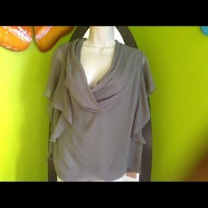 quintessential Tops - 100% army green lined top