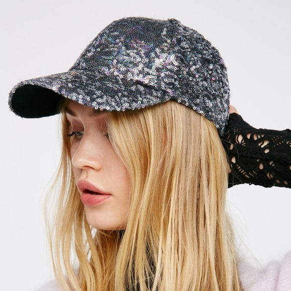 b06512b351563 Free People Accessories - Free People Shine On Sequin Baseball Hat