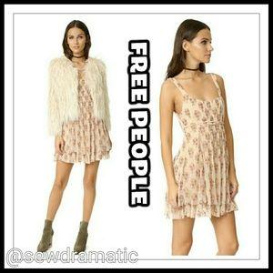 Free People Floral Gauze Mini Dress