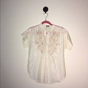 Off White Vintage Blouse