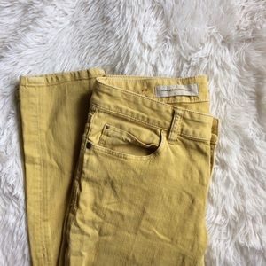 Anthropologie Denim - ANTHROPOLOGIE sunny yellow stet skinny jeans