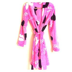 Other - Pink heart plush robe