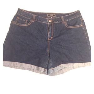 Cato Pants - Cato Cuffed Denim Shorts
