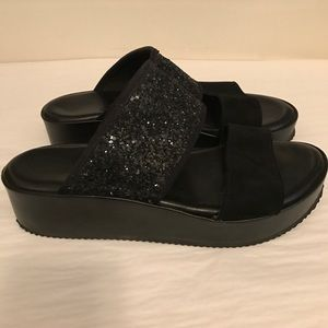 Kurt Geiger Shoes - Kurt Geiger slip on sandals black sequins size 38