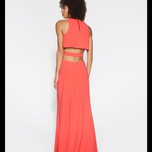 Halston Heritage Dresses & Skirts - Halston Heritage Sleeveless Long Back-cutout Dress