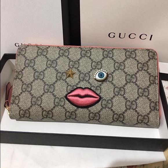 90777d559eca93 Gucci Bags | Nib Embroidered Face Wallet | Poshmark